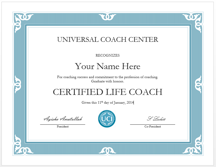 What Does The Certificates And Logos Look Like Universal Coach