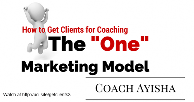 How to Get Clients for Coaching Using the One Marketing Model
