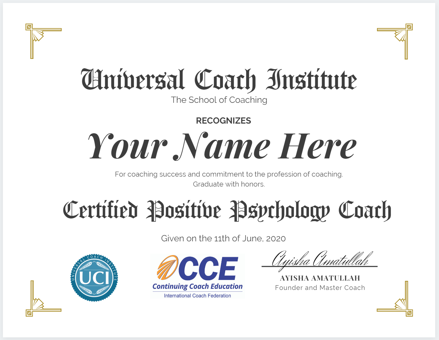 Positive Psychology Coach Certificate - Universal Coach Institute